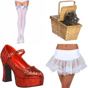 Dorothy Costume Accessories - Shoes/Tights/Toto